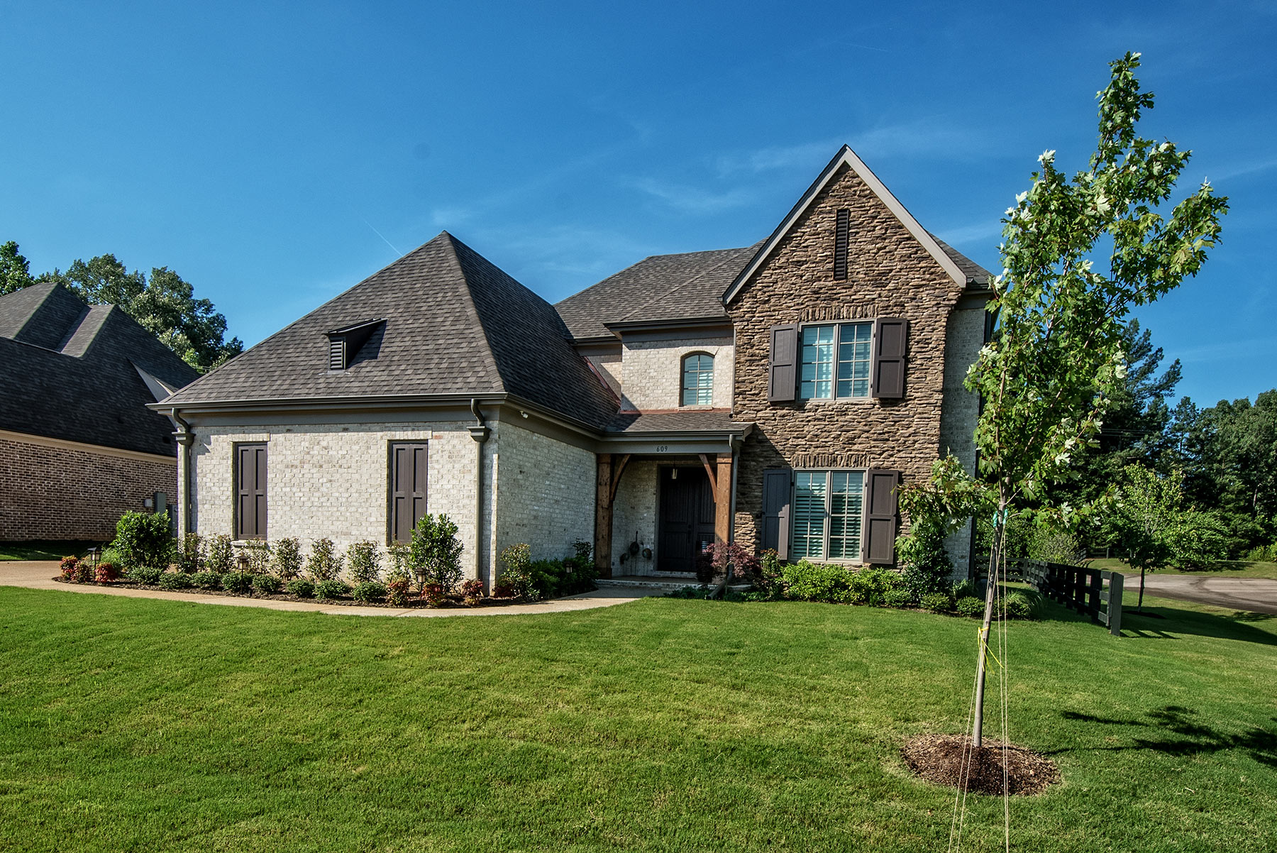 Elevation of custom home sklar group new homes Custom home builders arkansas